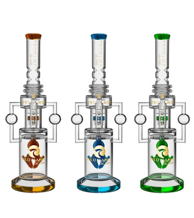 Glass Water Pipes | Bullet Ball Tower Showerhead Honeycomb