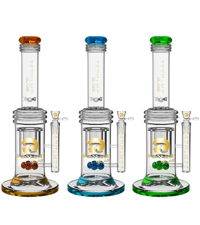 Glass Water Pipes | Button Double Honeycomb Perc