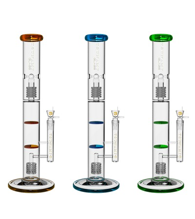 Glass Water Pipes | Dual Domed Metrix Dual Honeycomb